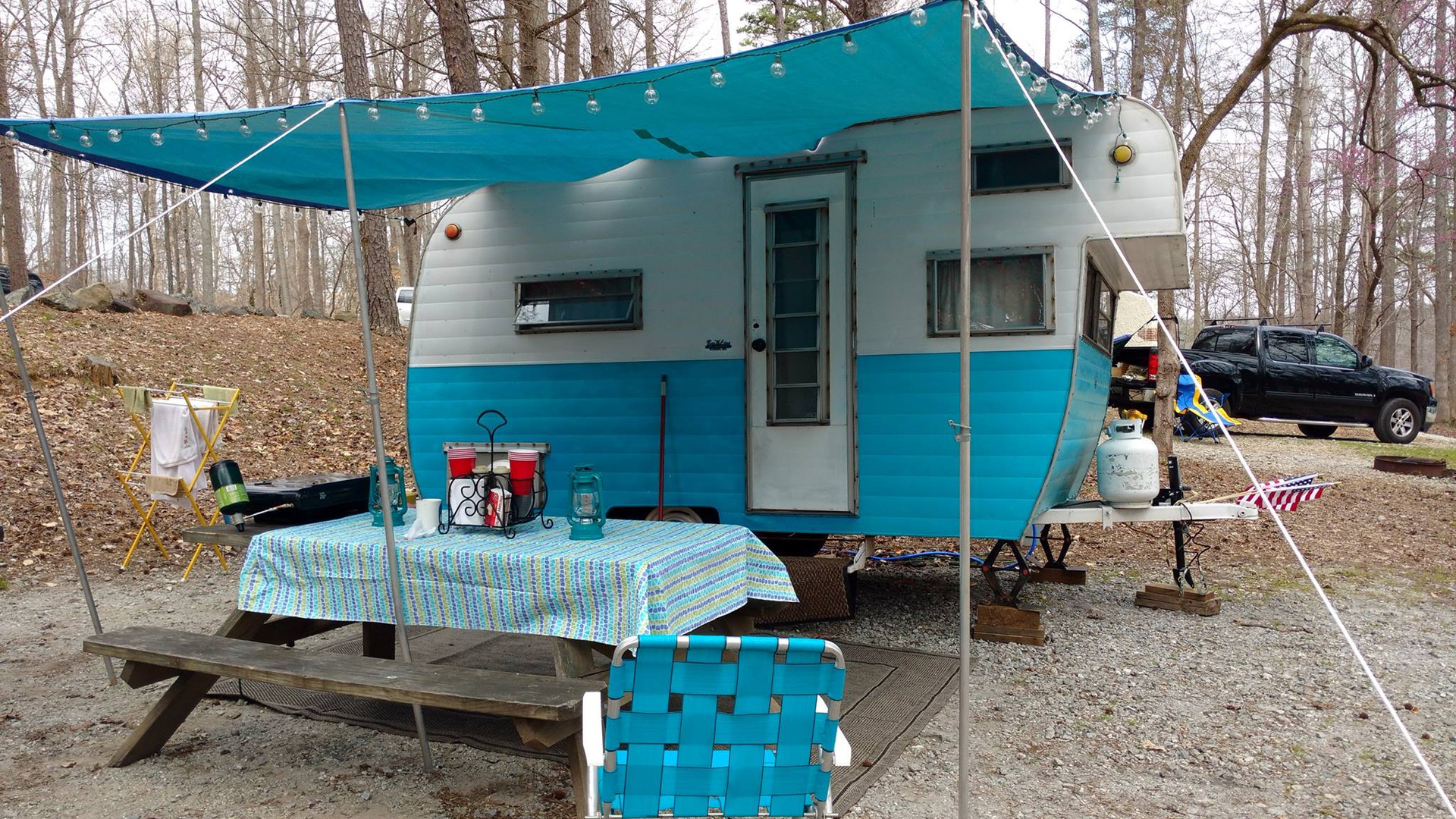 Vintage Trailers Camping at Croft State Park