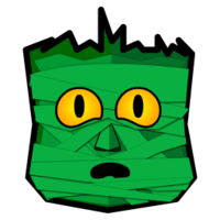 Green Mummy Sticker