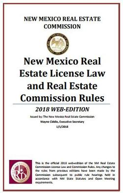 NM Real Estate Commission License Law and Rules