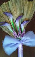 lavender wedding broom