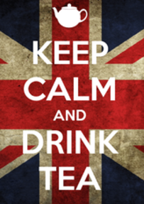 british empire flag stay calm and drink tea