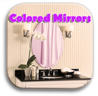 Solar Graphics Colored Glass Mirrors logo button picture image