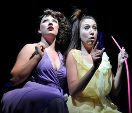 Haley Clair & Casey Hebbel star as Melpomene and Caliope in Xanadu