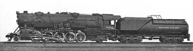 Baltimore and Ohio S-1 Class No. 6206 in 1928.