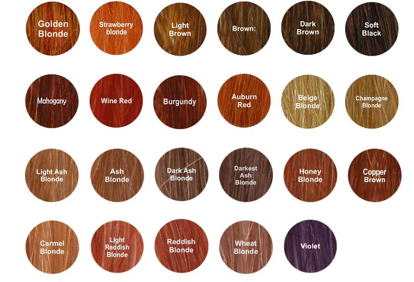 Organic Color Shade Chart For Organic Hair Color Dye