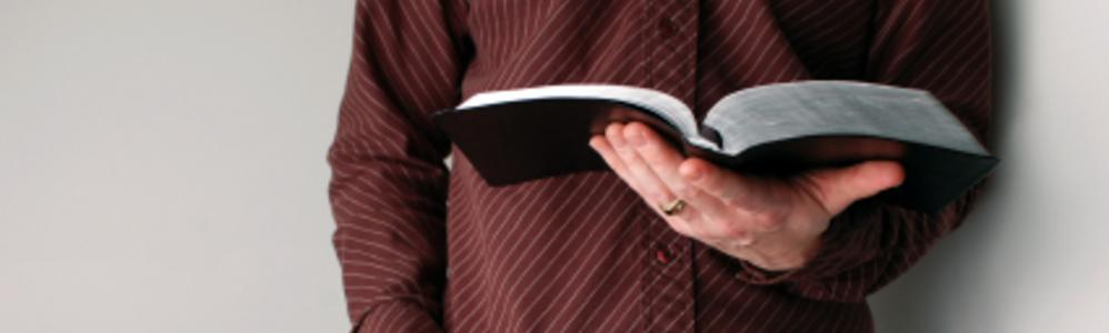 man with bible image