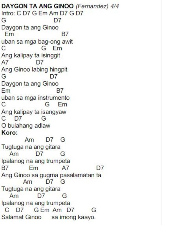 Cebuano Christian Songs With Guitar Chords - ARCHIDEV