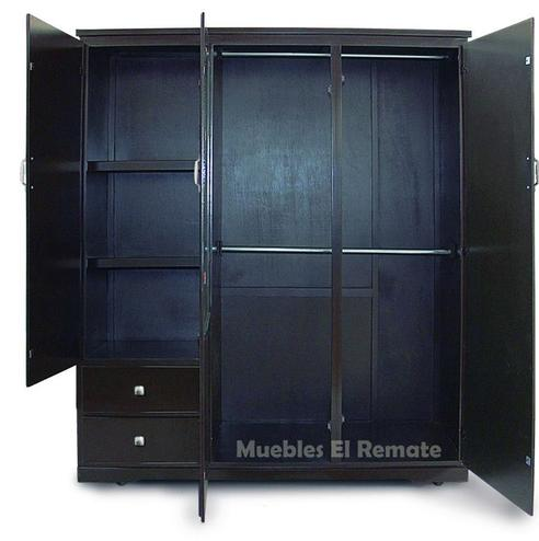 Closet 190 x 125 cms chocolate venta solo en monterrey for Muebles baratos remate