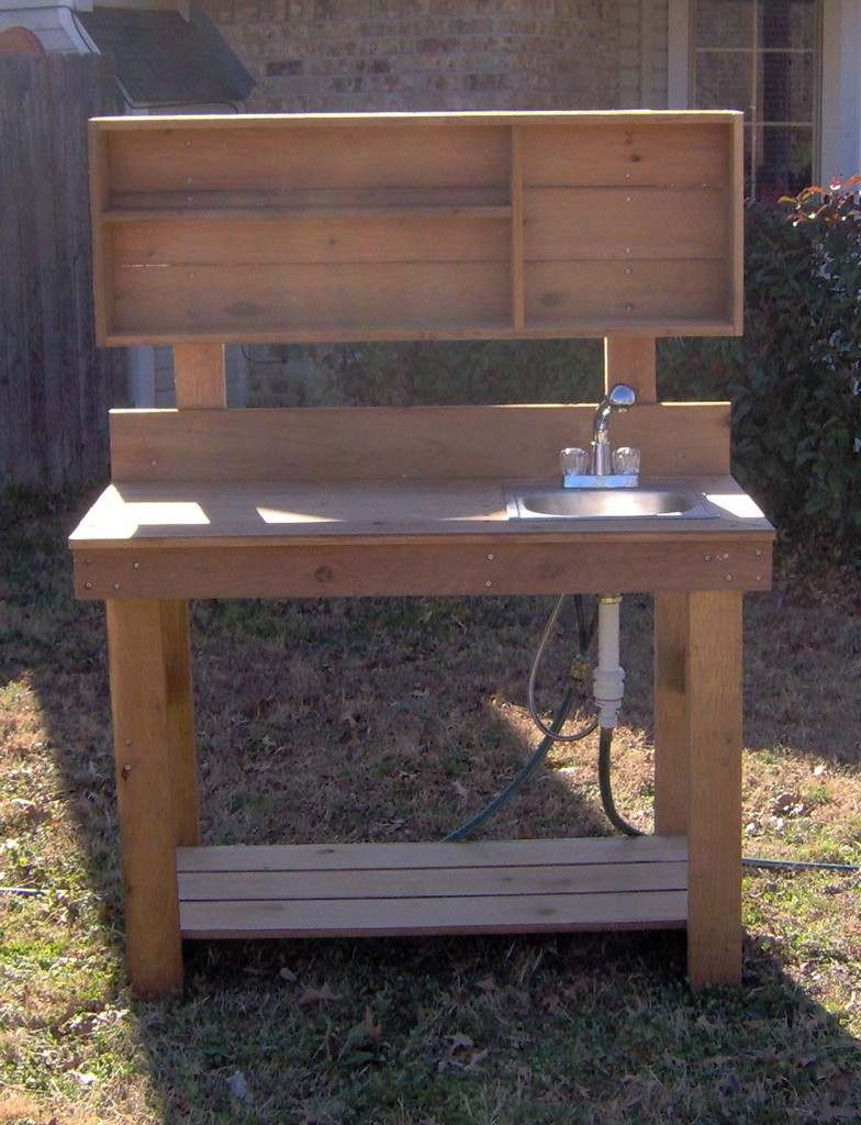 Lakewood 3 Person Swing, Ultimate Potting Bench With Sink