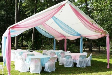 BLUE AND PINK BABY SHOWER DRAPING