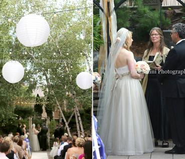 Beautiful Outdoor Wedding Ceremony at The Van Dusen Mansion in Minneapolis Minnesota