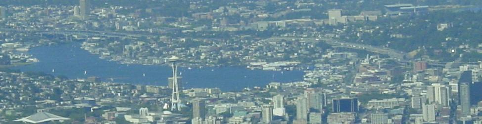 Seattle from 9500 feet