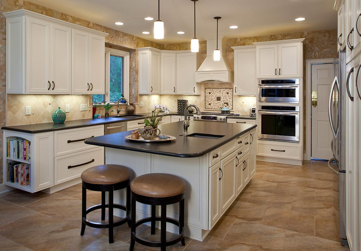 Beautiful KItchen remodel featuring a lot of customized storage behind the cabinet doors