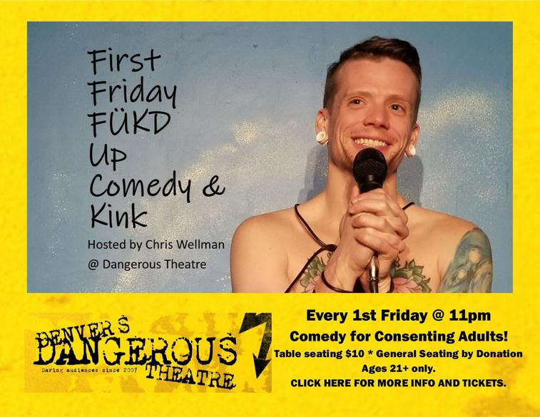 First Friday Comedy tickets at Dangerous Theatre