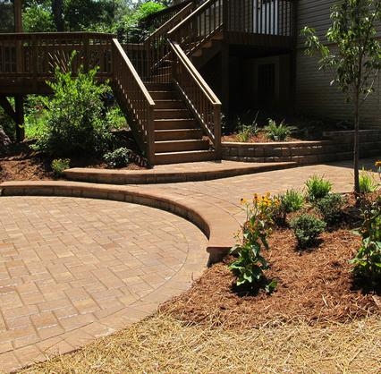 Landscaping services rendered on a home in Leesburg, PA