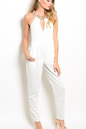 Ivory Gold Jumpsuit