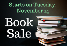 Book sale starts on November 14