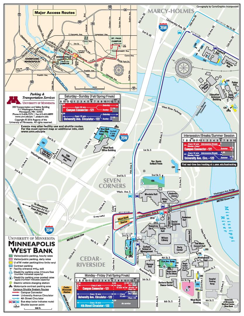 University Of Minnesota Map East Bank.Iso Maps