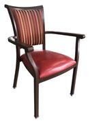 Aluminum Wood Grain Dining Chairs