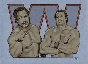 RON SIMMONS and BUTCH REED by Cliff Carson