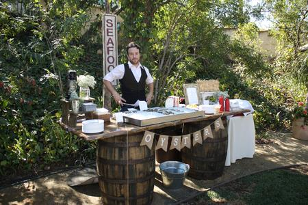 Rustic Parties Barrel Bars, wine bars, whisky barrels Slab top, Orange County, Southern California