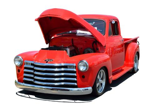 buy this old red truck online