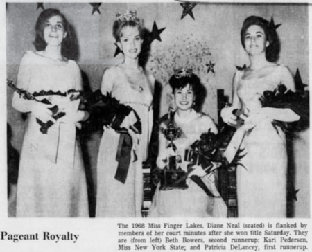f34ca240469cd Miss Finger Lakes 1967 Jeannie Lewis Miss Finger Lakes 1968 Diane Neal Miss  Finger Lakes 1969 Carol Camenga