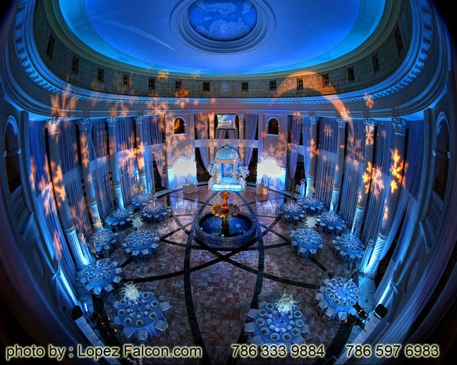 Party Decoration At Westin Colonnade hotel Quinces Parties Coral Gables Stage Winter Wonderland