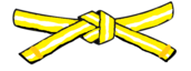 Little Warrior White/Yellow Belt with Yellow Stripe Level