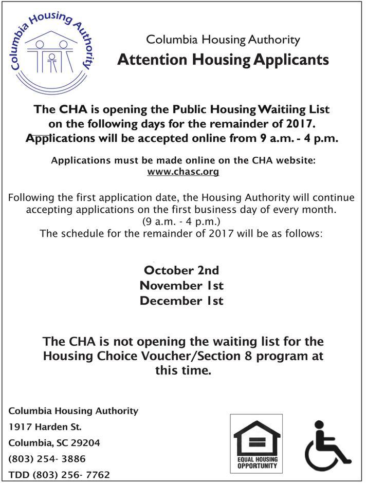 Waiting List Announcement 2017