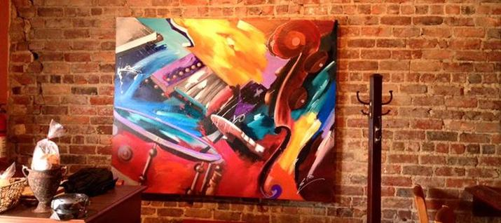 Painting displayed at Ed's Resturant, Downtown Goldsboro