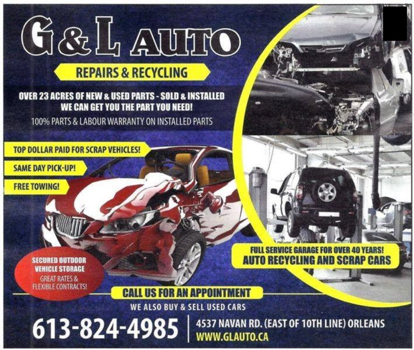 Recycled Parts - G & L Auto - Huge Auto Parts Inventory...