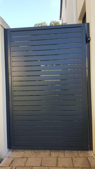 Aluminium slatted gates Perth