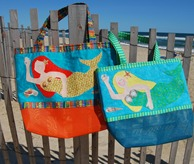 Mermaid Beach Bag pattern with applique instructions