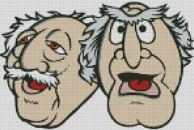 Cross Stitch Pattern Chart of Muppets Statler and Waldorf