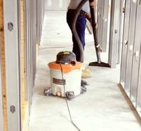 Construction cleaning shop vac