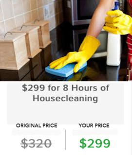 $299 for 8 Hours of Housecleaning