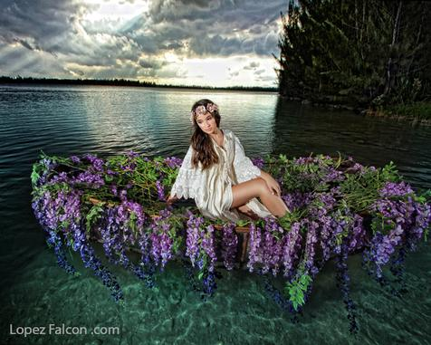 CANOE QUINCEANERA PHOTOGRAPHY LOPEZ FALCON QUINCEANERA PHOTO SHOOT WITH CANOE HOMESTEAD MIAMI REDLAND