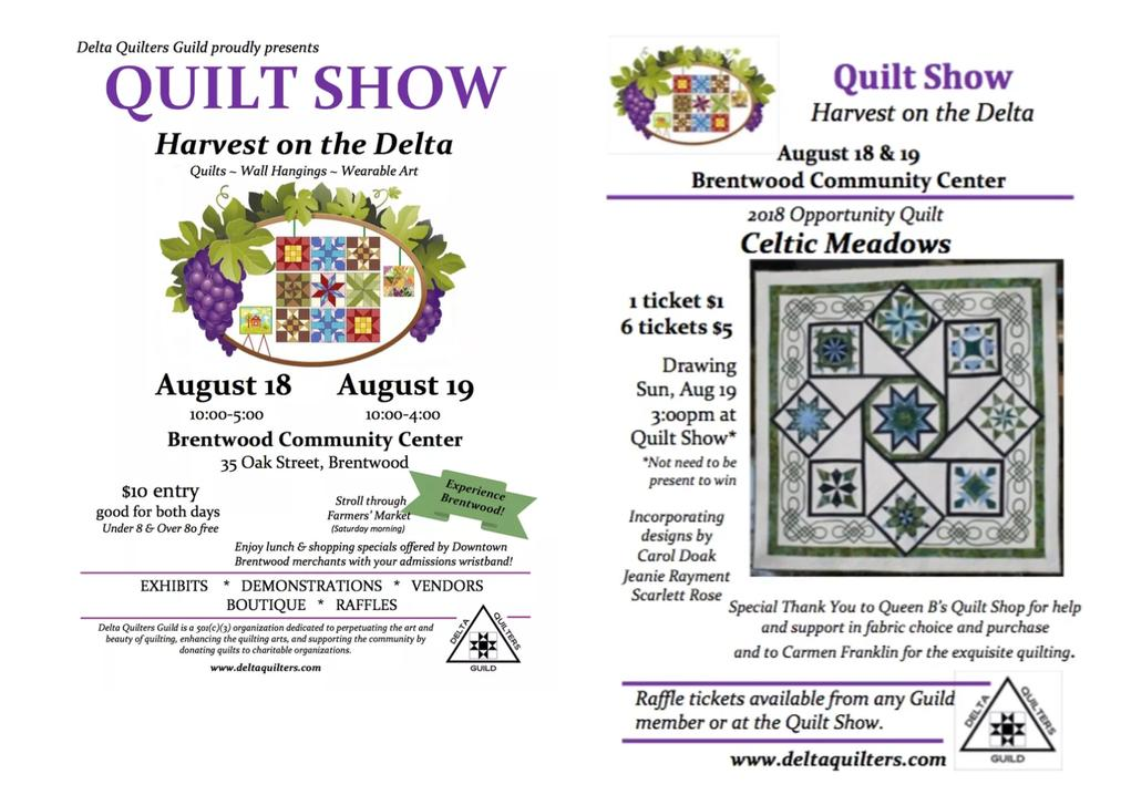Upcoming Quilt Shows
