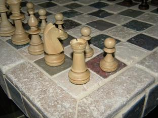 DIY ceramic tile chess board