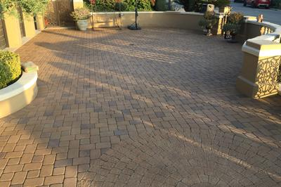 Concrete paver driveway walkway cleaning sealing orange county