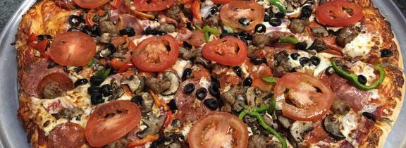 Delicious Pizza, Charbroiled Burgers, Hot Sandwiches, and Fresh Salads