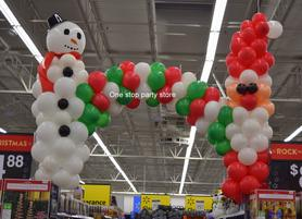 Christmas balloon arch