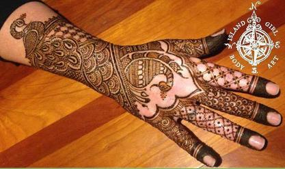 Traditional full bridal henna