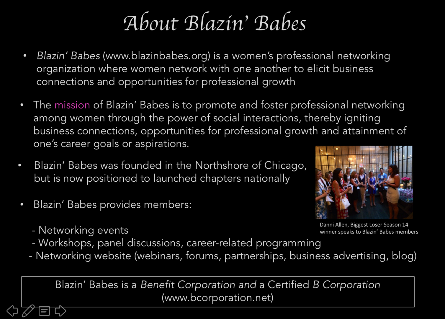 about us we provide workshops panel discussions networking events and other programming based on a social platform that encourages women to explore career