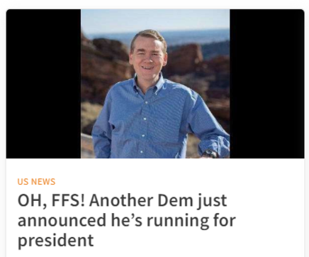 Another Dem just announced he's running for president trump dem primary