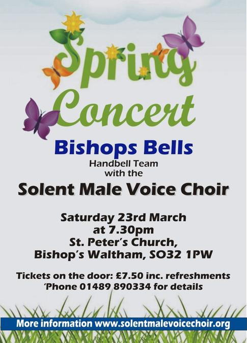 Solent Male Voice Choir Spring Concert 2019 with the Bishops Bells, in Bishop's Waltham, Hampshire