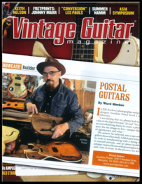 Postal Guitars in Vintage Guitar Magazine