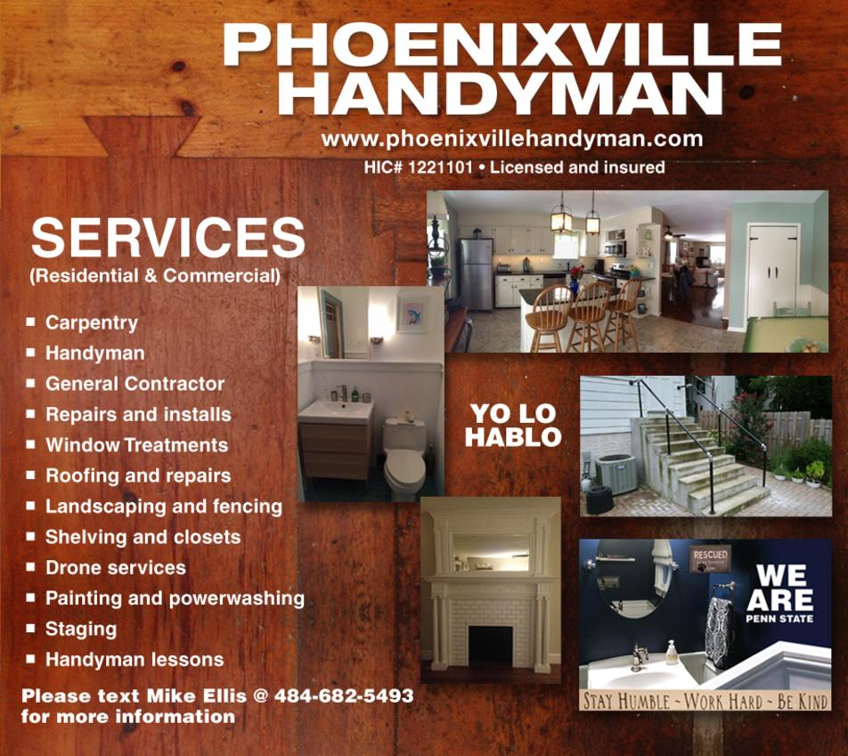 Phoenixville Handyman Locally Owned And Operated By Mike Ellis Resident Of Phoenixville For Over 15 Years