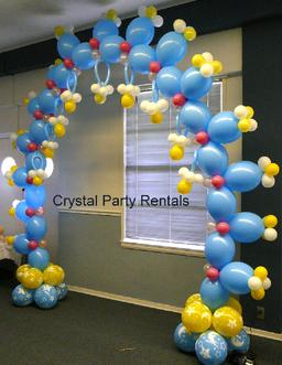 BLUE BABY SHOWER ARCH